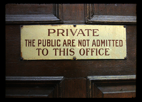 Private Office Keep Out