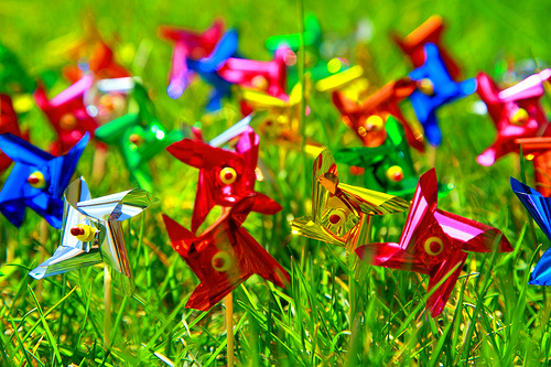 spring time pinwheels